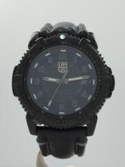 モダンマリナー/クォーツ腕時計/アナログ/レザー/BLK/ベルトダメージ有/6251/ケース付