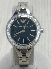クォーツ腕時計/アナログ/レザー/BLU/AR-7330/キアラ/ベゼルラインストーン/251209