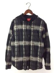 パーカー/S/BLK/2018AW/Hooded Jacquard Flannel Shirt/ジャガード