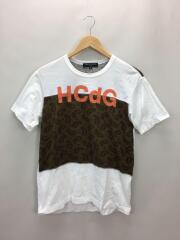 Tシャツ/S/コットン/WHT/ペーズリー/HS-T010