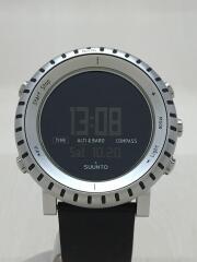 クォーツ腕時計/デジタル/レザー/BLK/スント/CORE/シルバー/ブラック