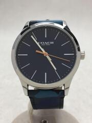 クォーツ腕時計/アナログ/--/NVY/14602370/コーチ/ブルー/カモフラ