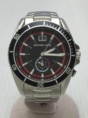 クォーツ腕時計/アナログ/ステンレス/BLK/SLV/Jetmaster Blue/マイケルコース