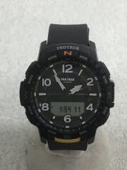 クォーツ腕時計・PROTREK/デジアナ/BLK/BLK