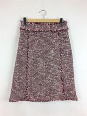セオリー/スカート/--/コットン/RED/ツイード スカート/18SS