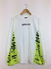 チラックス/長袖Tシャツ/L/コットン/WHT/ネオン タイダイ ロングスリーブ ティーシャツ
