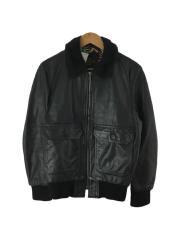 12SS/Leather Flight Jacket A-2/レザージャケット・ブルゾン/S/レザー/BLK