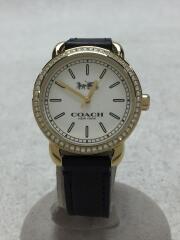 クォーツ腕時計/アナログ/レザー/WHT/BLK/CA.105.7.95.1204S