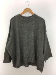 セーター(厚手)/--/ウール/GRY/クルーネックワイドプルオーバー/4-228824
