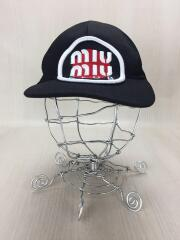DENIM BASEBALL cap/デニムベースボール/miumiuCLUB/キャップ/--/コットン/BLK