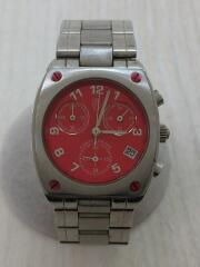 JC-7006/クォーツ腕時計/アナログ/ステンレス/RED/SLV