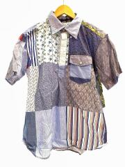 Pop Over BD Shirt/ポップオーバーシャツ/半袖シャツ/S/コットン/マルチカラー/総柄
