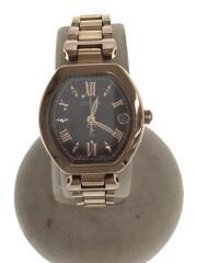 クロスシー/エコドライブ/H058-T019129/クォーツ腕時計/アナログ/ステンレス/ブラウン
