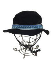 ×KAVU/Strap Bucket Hat/ストラップバケットハット/ハット/--/コットン/BLK