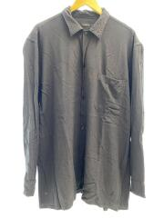 19SS/レーヨンオープンカラーシャツ/P01-01013/長袖シャツ/4/レーヨン/ブラック