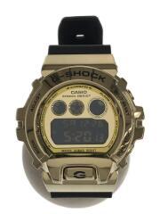 メタルベゼル/DW6900/GM-6900G-9JF/クォーツ腕時計/デジタル/GLD/BLK