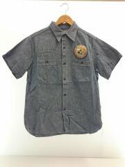 ×PEANUTS/ BR37325/シャンブレーシャツ/ピーナッツ//半袖シャツ/15.5/コットン/IDG