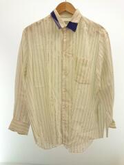 AD1996/テーピングワイドストライプシャツ/90s/長袖シャツ/--/レーヨン/WHT/ストライプ