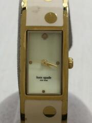 クォーツ腕時計/アナログ/WHT/BEG