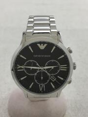 クォーツ腕時計/アナログ/--/BLK/SLV/AR-11208