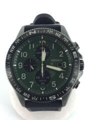 ソーラー腕時計/アナログ/GRN/BLK/SSC739/プロスペック