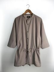 半袖シャツ/L/ポリエステル/PUP/ha020028tr/ノーカラーロングシャツ