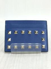 カードケース/レザー/NVY/無地/sw2p0486bol/ロックスタッズカードケース