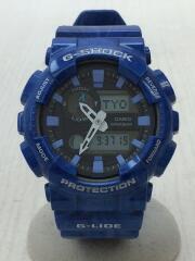 G-SHOCK/クォーツ腕時計/デジアナ/ラバー/BLU/BLU/GAX-100MA/中古