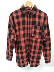 長袖チェックシャツ/ジャケット/オーバーサイズ/40/コットン/チェック