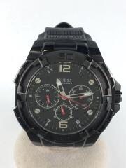 クォーツ腕時計/アナログ/ラバー/BLK/W1254G2