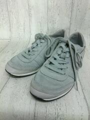 キッズ靴/22.5cm/スニーカー/スウェード/WHT