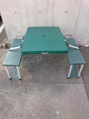 折りたたみアウトドアテーブル テーブル/4~6人用/GRN