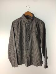 ネルシャツ/XL/ウール/BLU/チェック