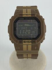 ソーラー腕時計・G-SHOCK/デジタル/ラバー/BLK/BRW