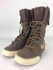ブーツ/23.5cm/BRW/コットン/311272-221/砂漠/フリンジ