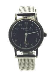 agnes b./アニエスベー/ソーラー腕時計/腕時計/V117-KRZ0/アナログ/ステンレス/BLK
