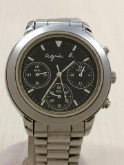 クォーツ腕時計/ブラック/V654-6100