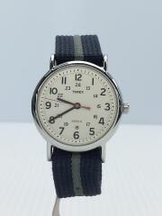 クォーツ腕時計/アナログ/ナイロン/ネイビー/T2N654/箱有