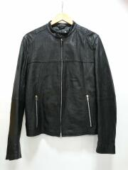 シングルライダースジャケット/312-040174/L/羊革/BLK/ブラック
