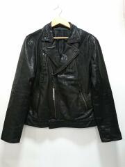 レザージャケット・ブルゾン/711222126/LL/山羊革/BLK/ブラック