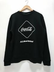 COCA-COLA EMBLEM CREWNECK SWEAT/FCRB-200017/スウェット/L/ブラック