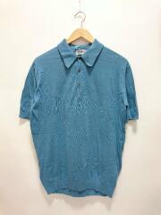 S3798/ポロシャツ/M/コットン/ブルー