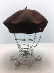 ベレー帽/FREE/ウール/BRW