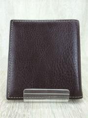 PRARE/2つ折り財布/レザー/BRW/無地/メンズ