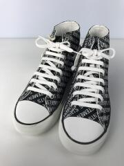 18SS/Printed Canvas Sneaker/ハイカットスニーカー/41/BLK/キャンバス/VTCNV1