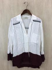 シャツ/32/レーヨン/WHT