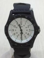 クォーツ腕時計/アナログ/レザー/BLK//  ×Ron Herman