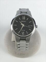 ソーラー腕時計/アナログ/BLK/V137-0BP0
