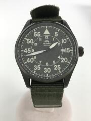 自動巻腕時計/アナログ/ナイロン/ブラック/カーキ/RN-AC0H02N
