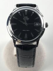 自動巻腕時計/アナログ/レザー/BLK